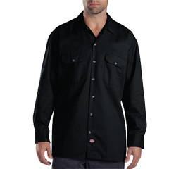 DKI574-BK-L - DickiesMens Long Sleeve Work Shirts