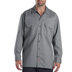 DKI574-SV-LT - DickiesMens Long Sleeve Work Shirts
