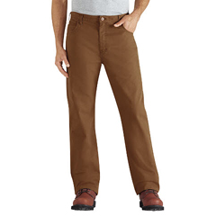 DKIDD112-RBD-34-34 - DickiesMens Regular-Fit Straight-Leg 6-Pocket Duck Jeans