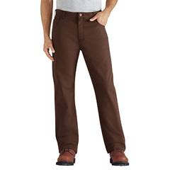 DKIDD112-RTB-38-30 - DickiesMens Regular-Fit Straight-Leg 6-Pocket Duck Jeans