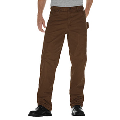 DKIDU336-RTB-38-32 - DickiesMens Relaxed-Fit Sanded Duck Carpenter Jeans