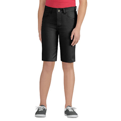 DKIKR560-BK-14 - DickiesGirls 5-Pocket Striped Twill Shorts