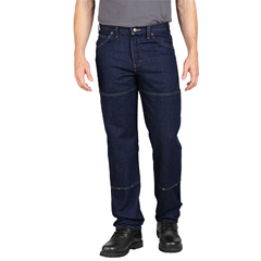 DKILD200-RNB-44-30 - DickiesMens Relaxed-Fit Double-Knee Cell Jeans