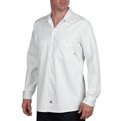 DKILL307-WH-XL-RG - DickiesMens Long Sleeve Industrial Shirt