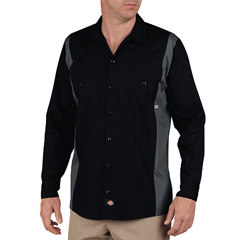 DKILL524-BKCH-L - DickiesMens Long Sleeve Two-Tone Industrial Shirt