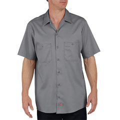 DKILS307-GG-XL-RG - DickiesMens Short Sleeve Industrial Cotton Work Shirt