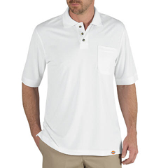 DKILS404-WH-2X - DickiesMens Industrial Short Sleeve Polo Shirts
