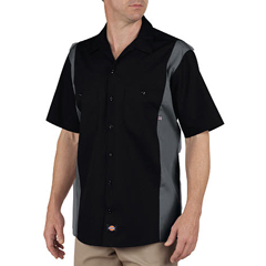 DKILS524-BKCH-S - DickiesMens Short Sleeve Two-Tone Industrial Shirt