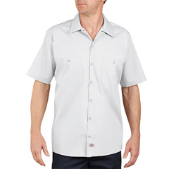 DKILS535-WH-S - DickiesMens Short Sleeve Industrial Work Shirt