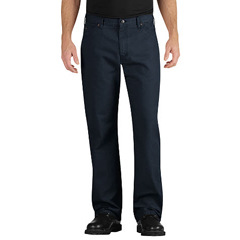 DKILU239-RNV-34-32 - DickiesMens Industrial Relaxed-Fit Straight-Leg Carpenter Duck Jeans