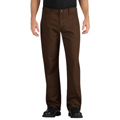 DKILU239-RTB-38-32 - DickiesMens Industrial Relaxed-Fit Straight-Leg Carpenter Duck Jeans