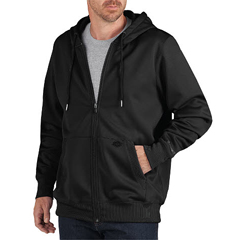 DKISW521-BK-XL - DickiesMens Zip Fleece Hooded Jackets