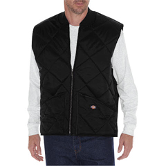 DKITE242-BK-M - DickiesMens Diamond Quilted Nylon Vests