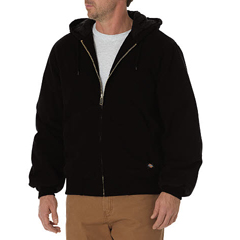 DKITJ270-RBK-L - DickiesMens Sanded Duck Insulated Hooded Jackets