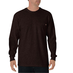 DKIWL450-CB-2T - DickiesMens Long Sleeve Heavyweight Crew Neck Tee Shirts