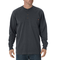 DKIWL451-CH-LT - DickiesMens Long Sleeve Heavyweight Henley Tee