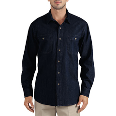 DKIWL628-RMWD-M - DickiesMens Long Sleeve Denim Shirts