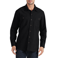 DKIWL633-BK-M - DickiesMens Long Sleeve Chamois Work Shirts