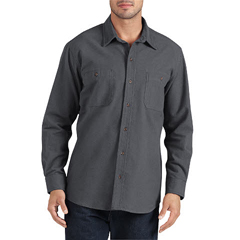 DKIWL633-GA-XL - DickiesMens Long Sleeve Chamois Work Shirts