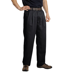 DKIWP114-BK-32-32 - DickiesMens Pleat-Front Pant