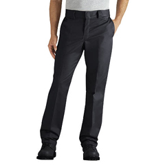 DKIWP833-BK-34-32 - DickiesMens Regular-Fit Tapered-Leg Ringspun Work Pants