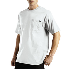 DKIWS417-WH-LT - DickiesMens Short Sleeve Performance Pocket Tee Shirts