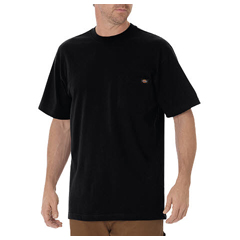 DKIWS450-BK-2T - DickiesMens Short Sleeve Heavyweight Crew Neck Tee Shirts