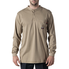 DKI56950KH9-MD-0R - Walls FRMens Flame Resistant Long Sleeve Henley