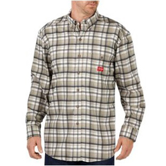 DKIRL310HEP-5X - Dickies FRMens Flame Resistant Long Sleeve Plaid Shirt