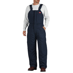 DKIRB701NV-2X-RG - Dickies FRMens Flame Resistant Insulated Duck Bib Overall