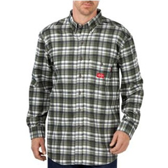 DKIRL310WFP-XL - Dickies FRMens Flame Resistant Long Sleeve Plaid Shirt