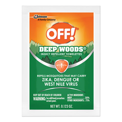 DRKCB549967 - OFF! Deep Woods Insect Repellent Towelettes