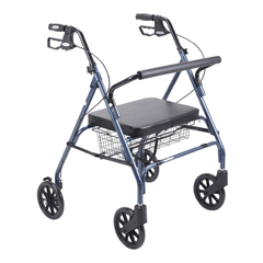 10215BL-1 - Drive MedicalHeavy Duty Bariatric Walker Rollator with Large Padded Seat