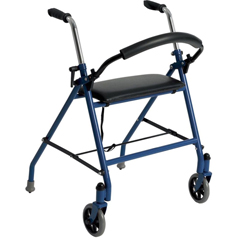 DRV1239BL - Drive MedicalTwo Wheeled Walker with Seat