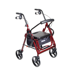 795BU - Drive MedicalDuet Transport Wheelchair Walker Rollator