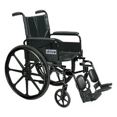 DRVC420ADFASV-ELR - Drive MedicalCirrus IV Lightweight Dual Axle Wheelchair with Adjustable Arms