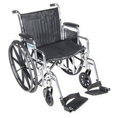 CS18DDA-SF - Drive MedicalChrome Sport Wheelchair