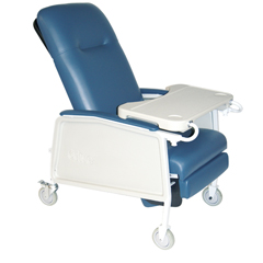 D574-BR - Drive Medical3 Position Geri Chair Recliner, Blue Ridge
