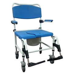 DRVNRS185008 - Drive MedicalBariatric Aluminum Rehab Shower Commode Chair with Two Rear-Locking Casters