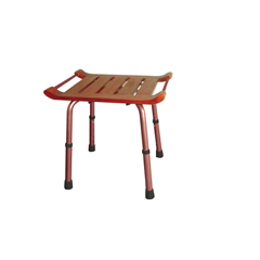 RTL12351KDR - Drive MedicalAdjustable Height Rectangular Teak Bath Bench Stool