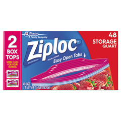 DVOCB003103CT - Diversey Ziploc® Double Zipper Storage Bags, 50/BX