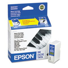 EPSS187093 - Epson S187093 Ink, 380 Page-Yield, Black