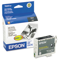 EPST043120 - Epson T043120 DURABrite High-Yield Ink, 950 Page-Yield, Black