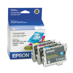 EPST044520 - Epson T044520 DURABrite Ink, 1200 Page-Yield, 3/Pack, Cyan; Magenta; Yellow