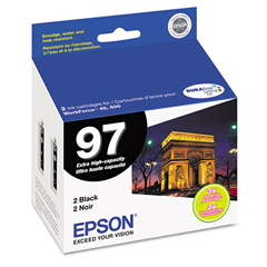 EPST097120D2 - Epson T097120D2 (97) Extra High-Yield Ink, 2/Pack, Black