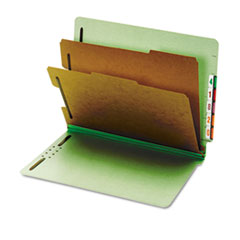 GLW23224 - Globe-Weis® Heavy-Duty Pressboard End Tab Classification Folders