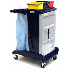 GPS201T - GeerpresModular Plastic Housekeeping Cart - 201 Base Unit With 3 Top Buckets