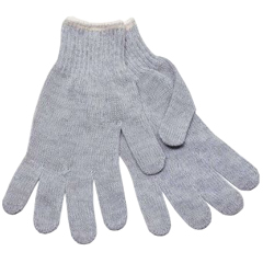SFZGSMW-MN-2C-GY - Safety ZoneGrey String Knit Gloves - Mens