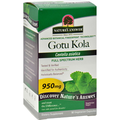 HGR0123935 - Nature's AnswerGotu-Kola Herb - 950 mg - 90 caps