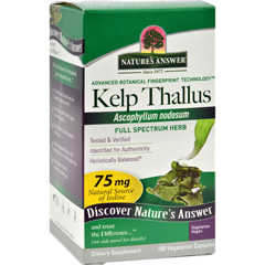 HGR0124016 - Nature's AnswerKelp Thallus - 100 Capsules